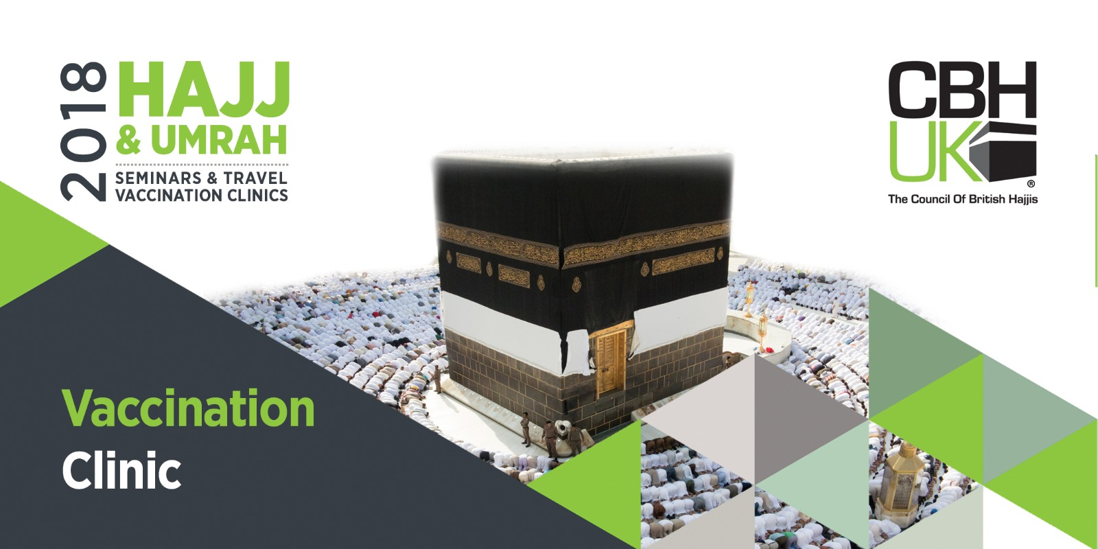 Umrah Banner: Hajj & Umrah Vaccination Clinic 2018 - London
