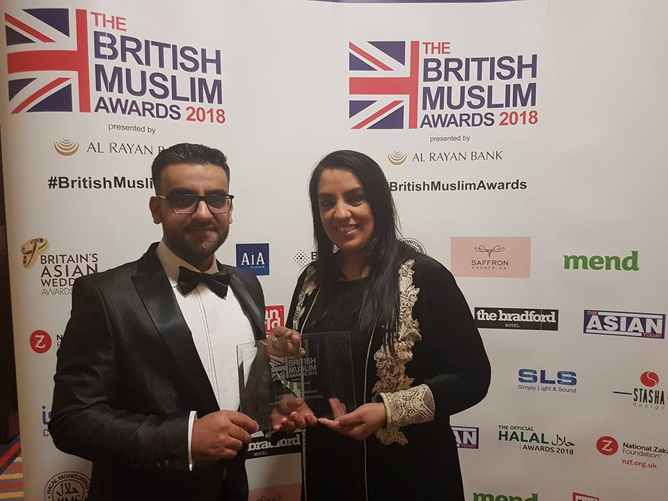 Rashid Mohammed (CEO) pictured with Naz Shah MP - British Muslim Awards 2018