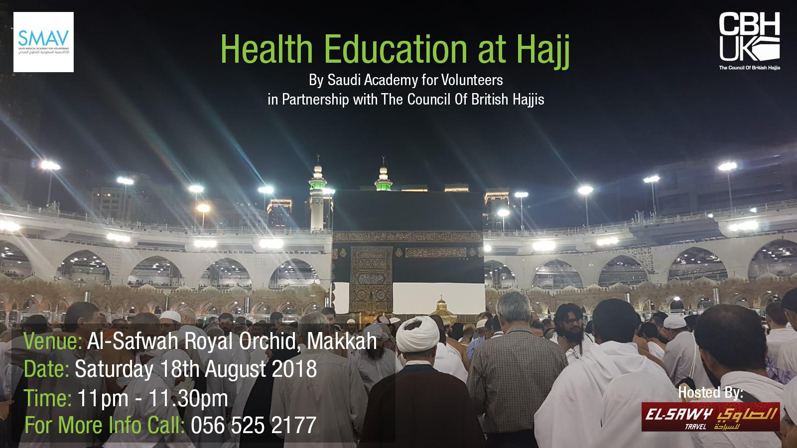 Health Education at Hajj | CBHUK