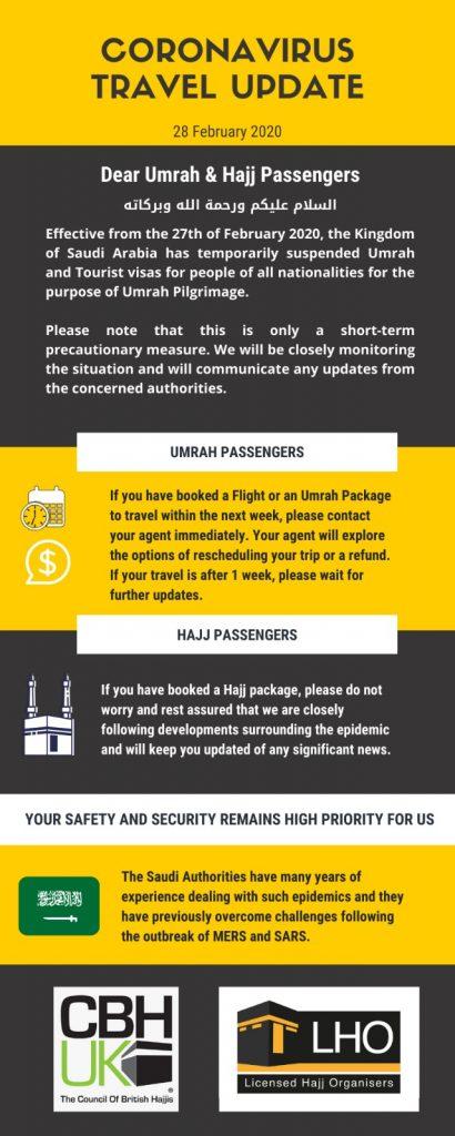 2020-02-28 - CBHUK and LHO Coronavirus Travel Update