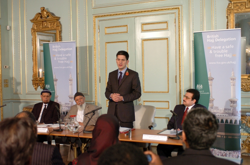 Foreign Secretary David Miliband speaking at the launch of the 10th British Hajj Delegation, 27 October 2009.